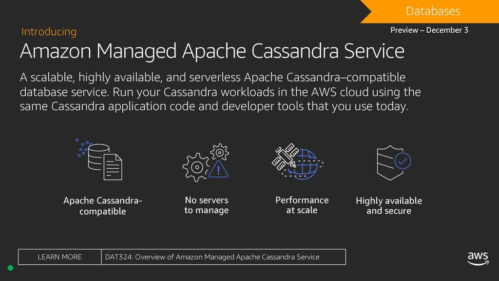 Amazon Managed Apache Cassandra Service Introdu...