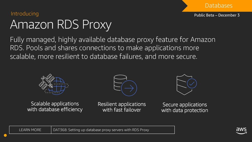 Amazon RDS Proxy Introducing Fully managed, hig...