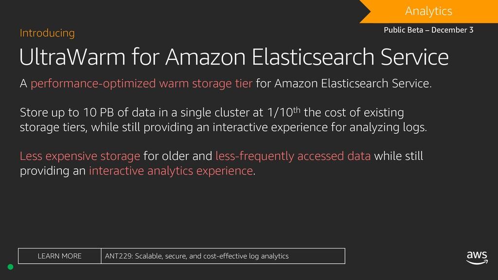 UltraWarm for Amazon Elasticsearch Service Intr...
