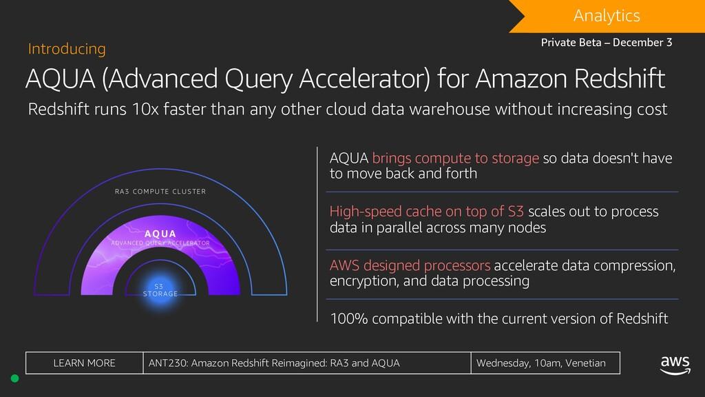 AQUA (Advanced Query Accelerator) for Amazon Re...