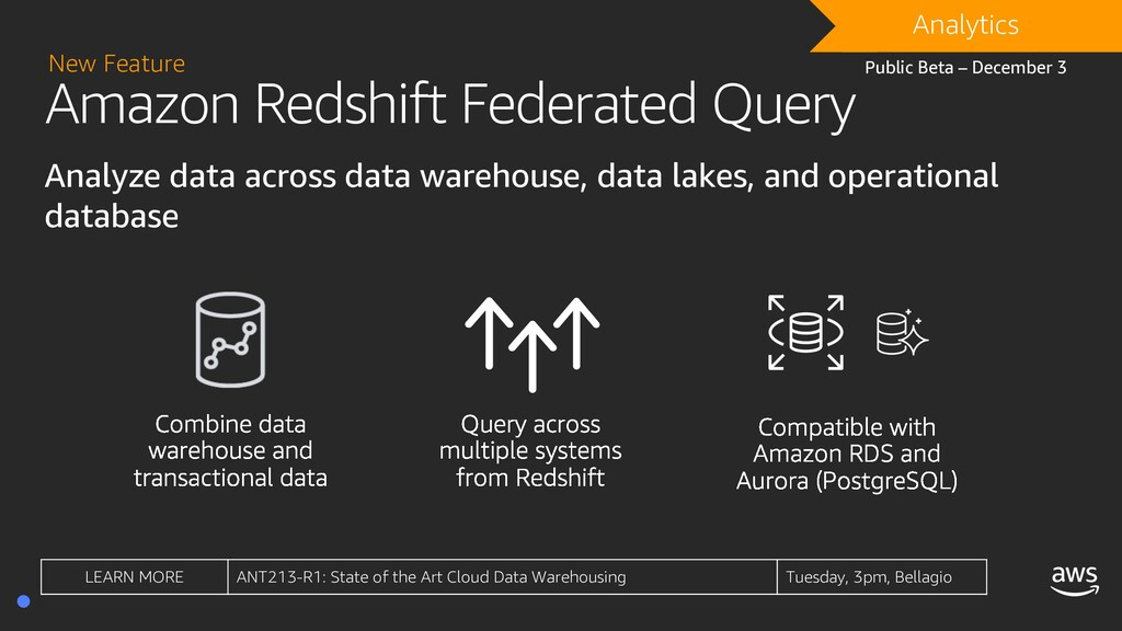 Amazon Redshift Federated Query Analyze data ac...