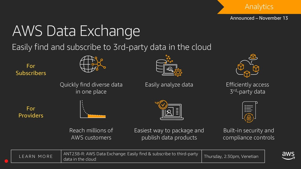 AWS Data Exchange Quickly find diverse data in ...