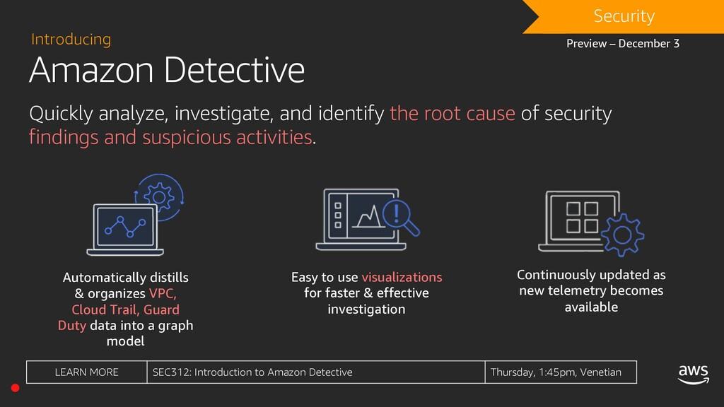 Amazon Detective Introducing Quickly analyze, i...
