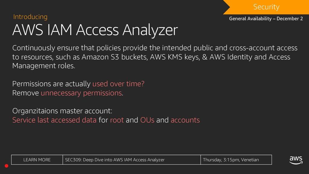 AWS IAM Access Analyzer Introducing Continuousl...