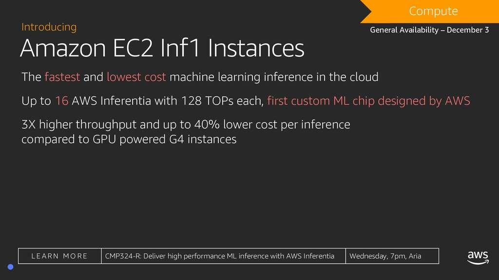 Amazon EC2 Inf1 Instances Introducing The faste...