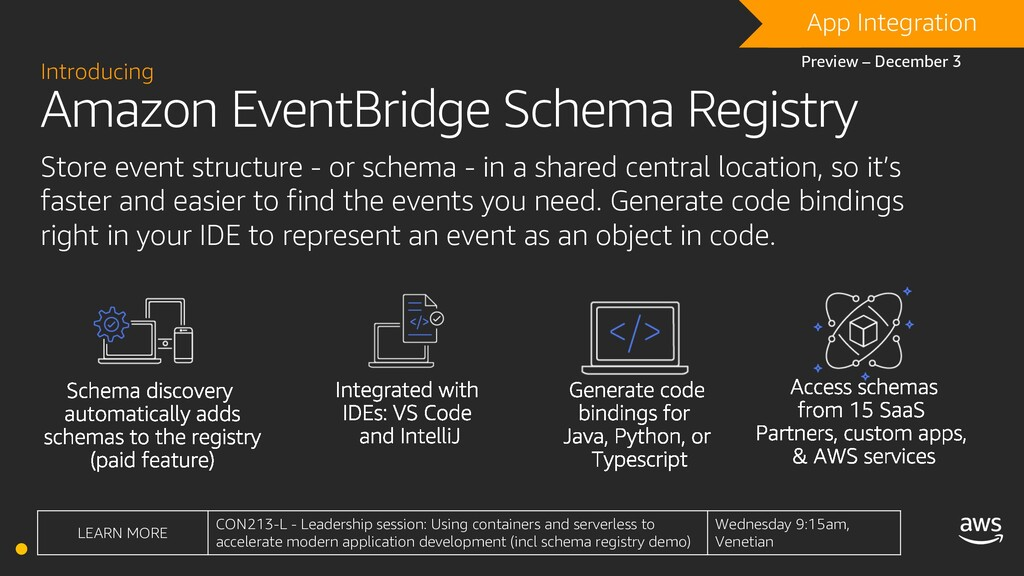 Amazon EventBridge Schema Registry Introducing ...