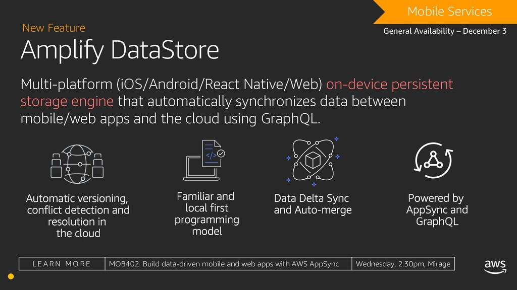 Amplify DataStore New Feature DRAFT Mobile Serv...