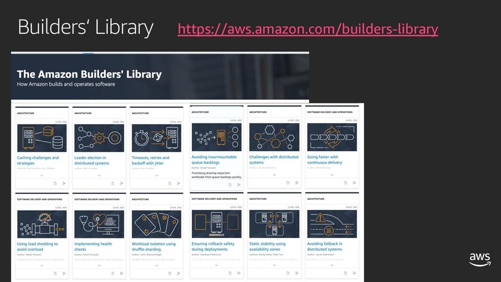 Builders' Library https://aws.amazon.com/builde...