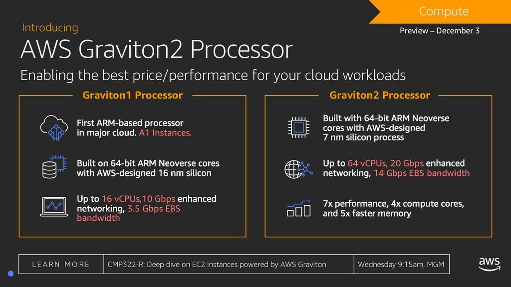 AWS Graviton2 Processor Introducing Enabling th...