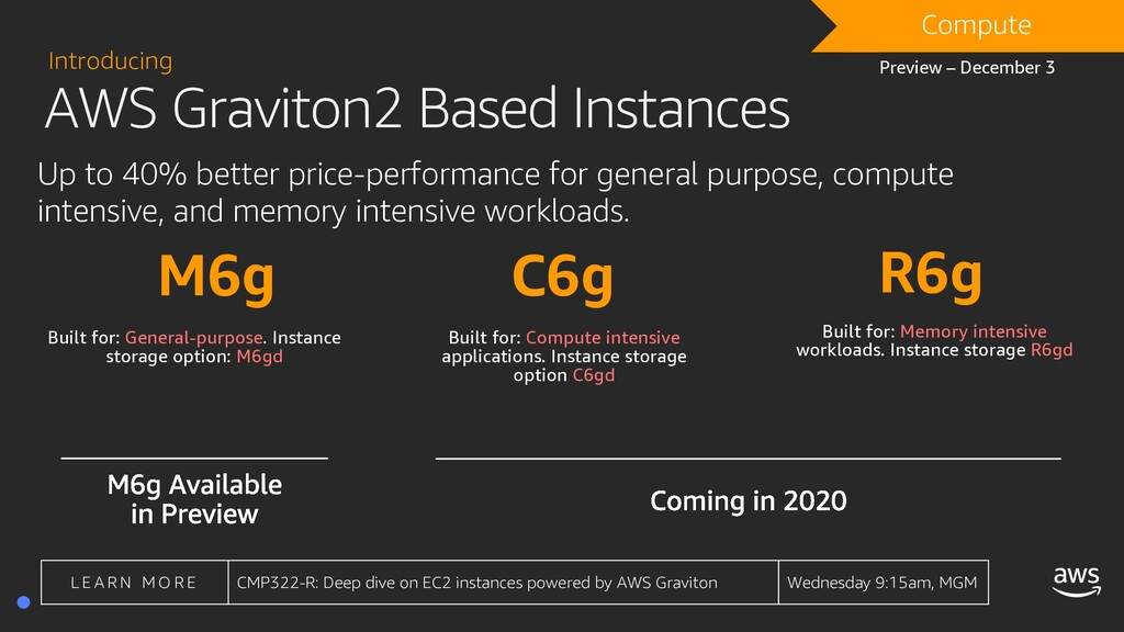 AWS Graviton2 Based Instances Introducing Up to...