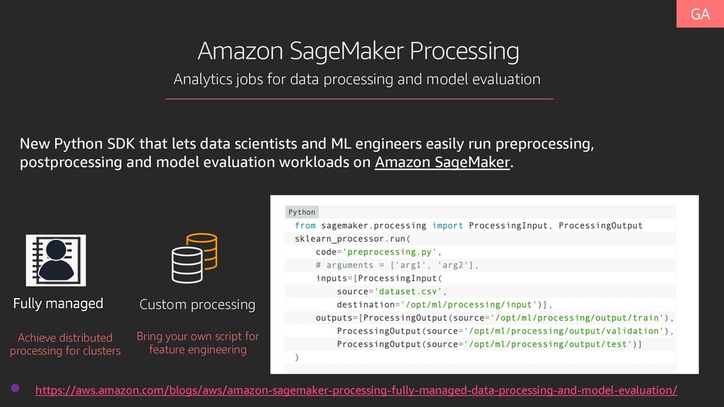 Amazon SageMaker Processing Analytics jobs for ...