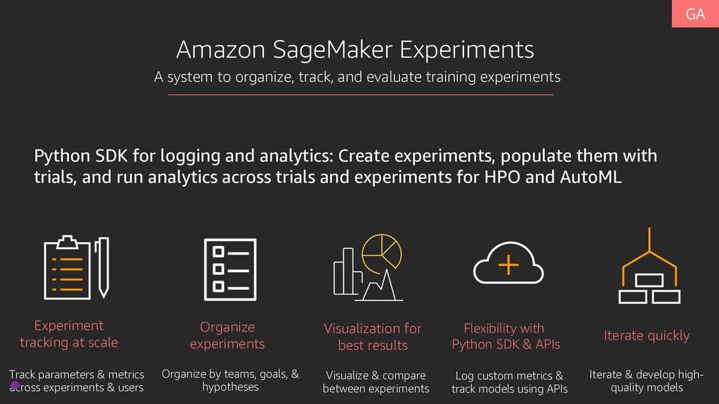 Amazon SageMaker Experiments Experiment trackin...