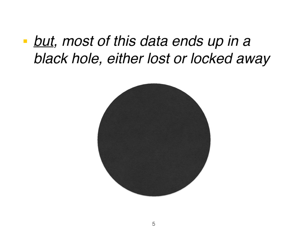 ■ but, most of this data ends up in a black hol...