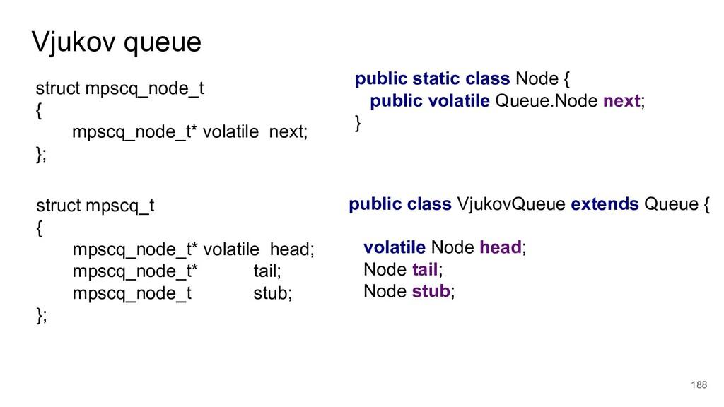 Vjukov queue 188 public static class Node { pub...