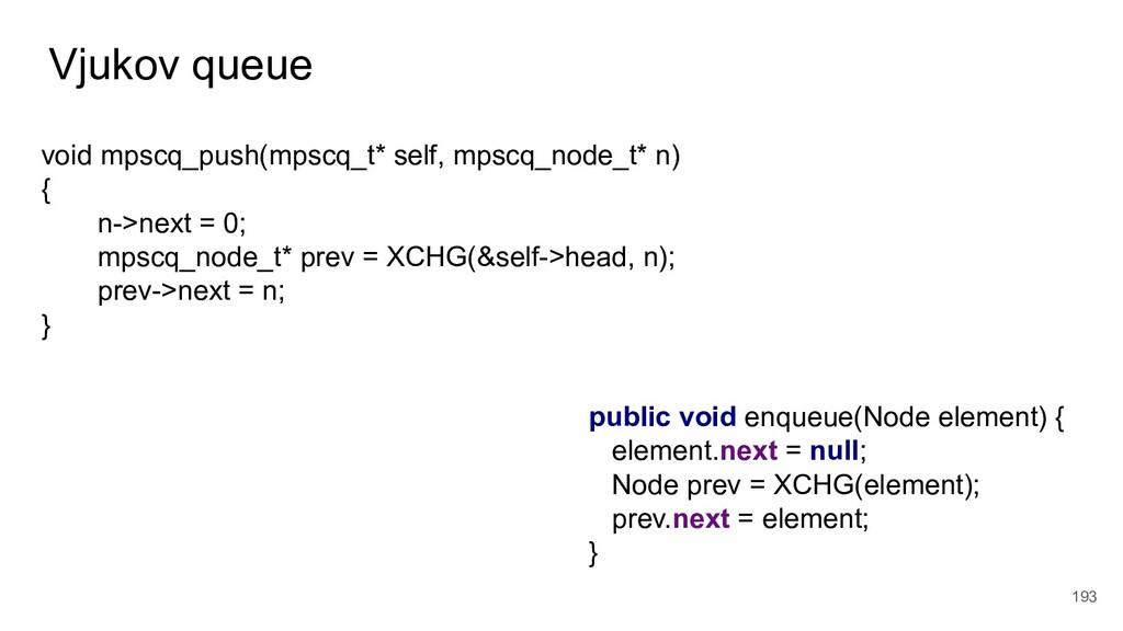 Vjukov queue 193 void mpscq_push(mpscq_t* self,...