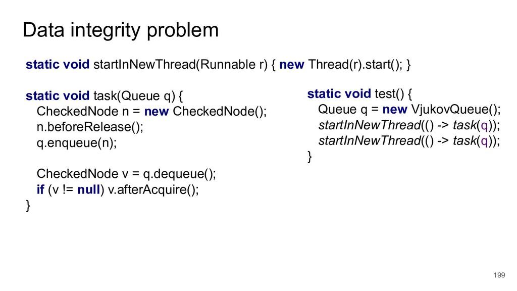 Data integrity problem 199 static void startInN...