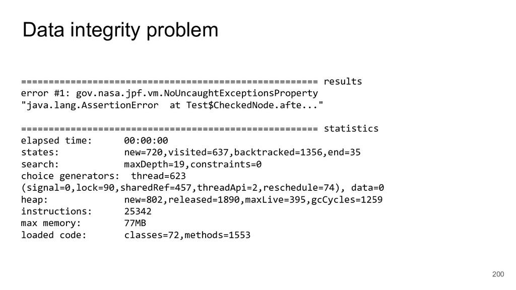 Data integrity problem 200 ====================...