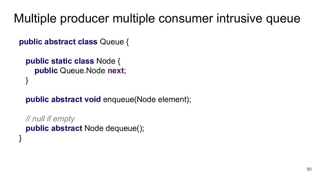 Multiple producer multiple consumer intrusive q...