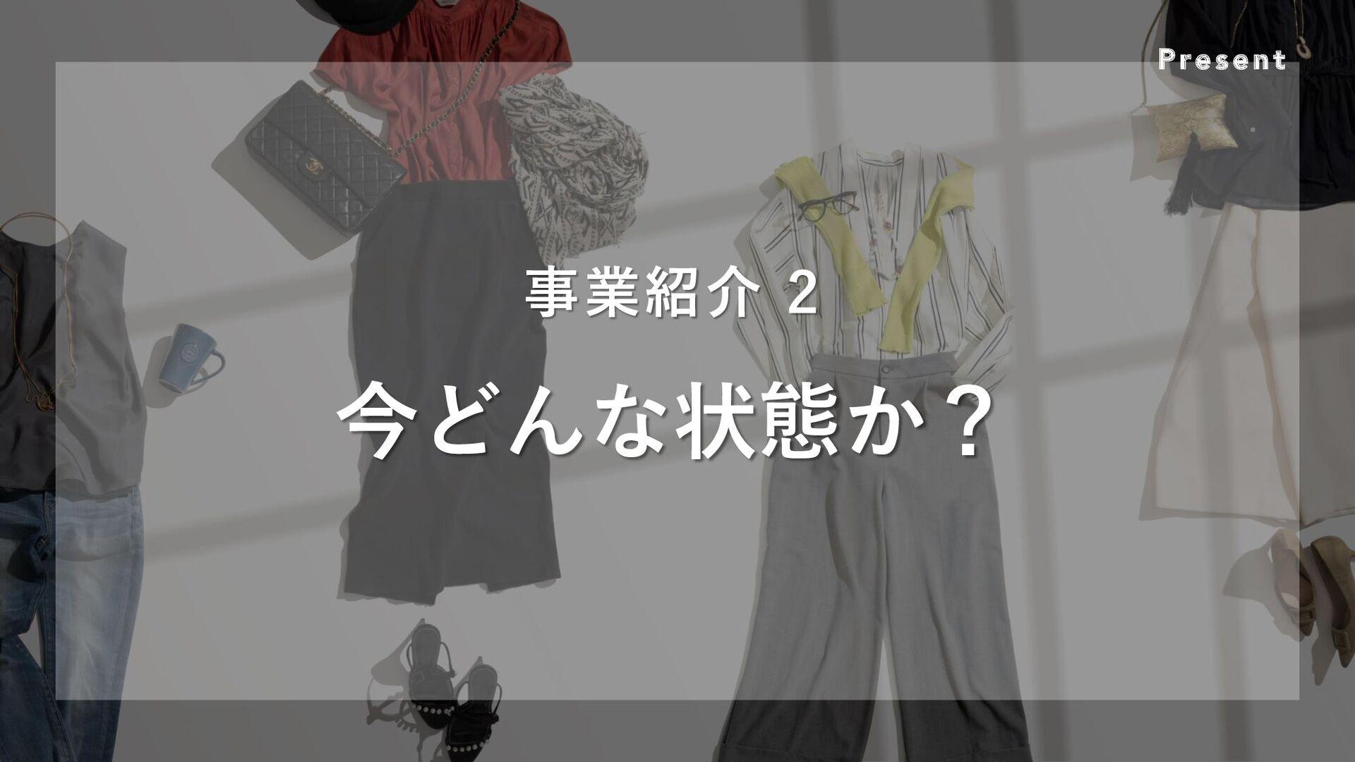 Present 事業紹介 2 今どんな状態か?