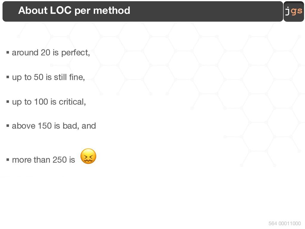 jgs 564 00011000 About LOC per method § around ...