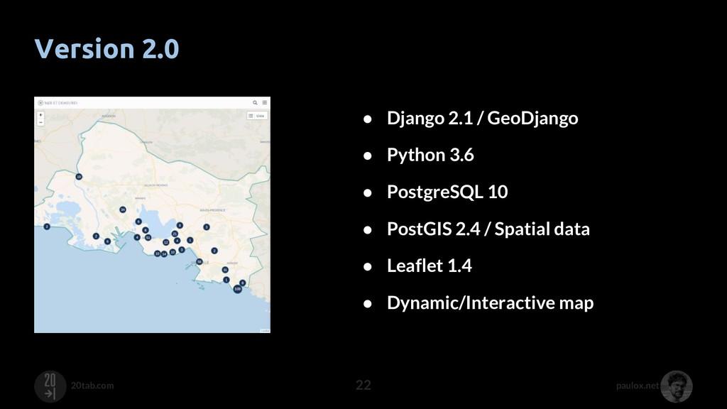 paulox.net 20tab.com Version 2.0 22 ● Django 2....