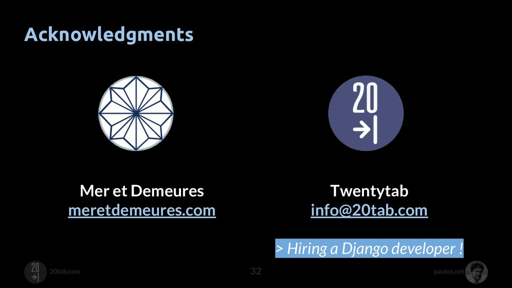 paulox.net 20tab.com Acknowledgments 32 Mer et ...
