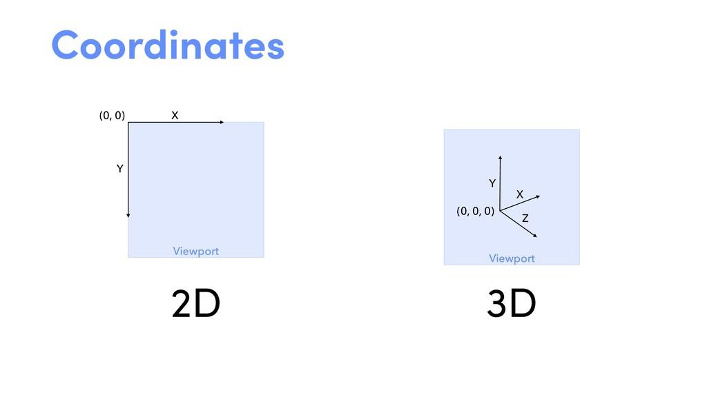 (0, 0) X Y Viewport (0, 0, 0) X Y Viewport Z Co...