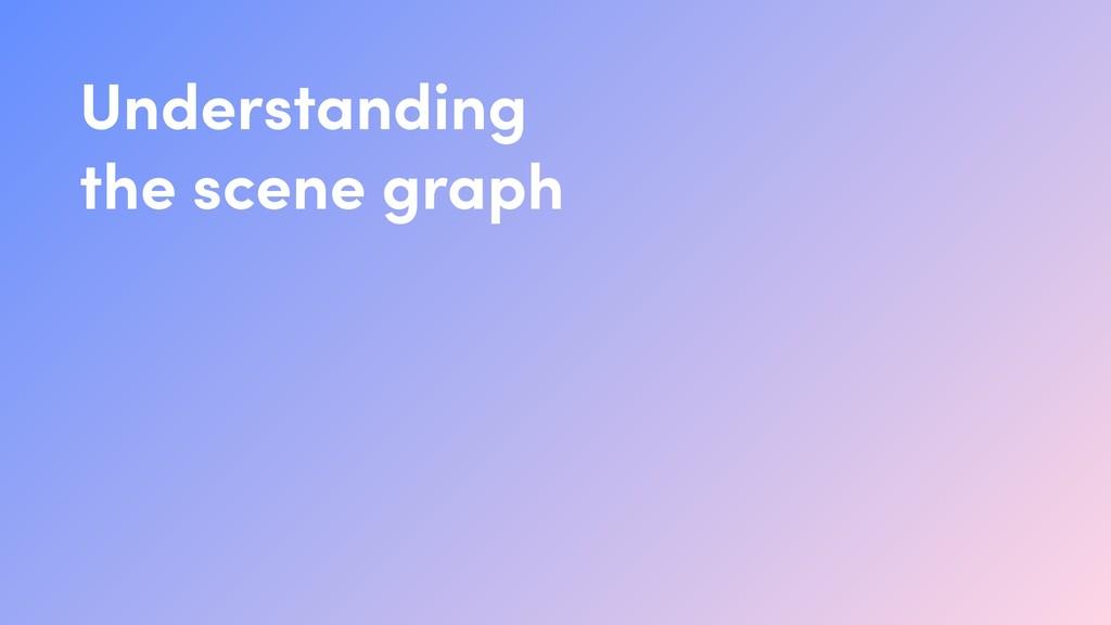 Understanding the scene graph