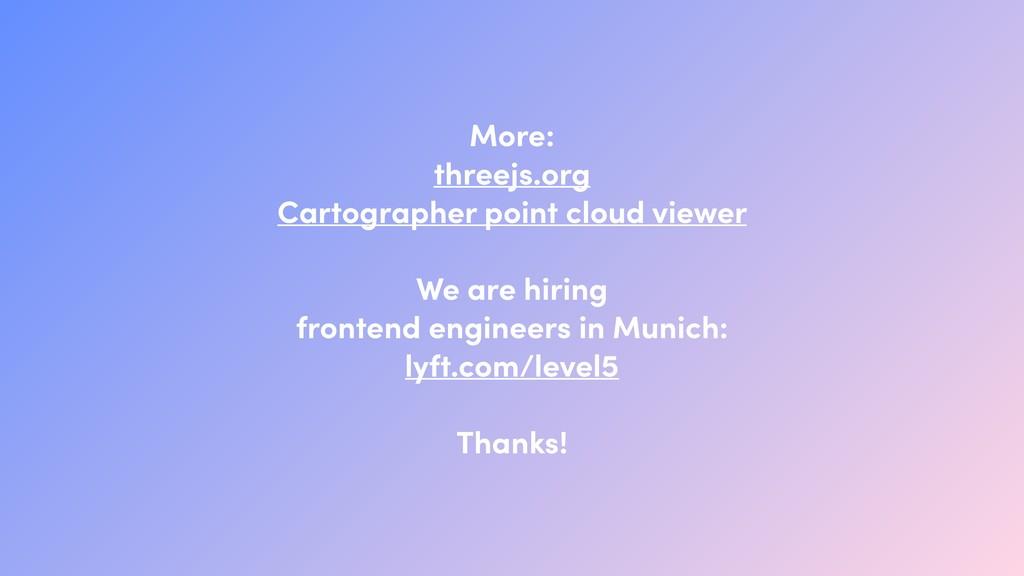 More: threejs.org Cartographer point cloud vie...