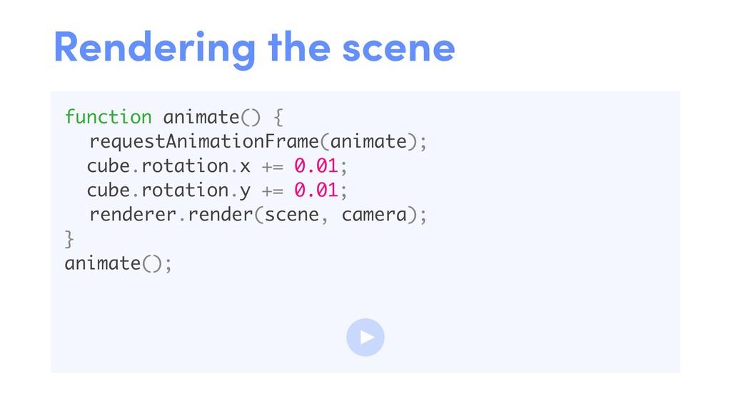 function animate() { requestAnimationFrame(anim...