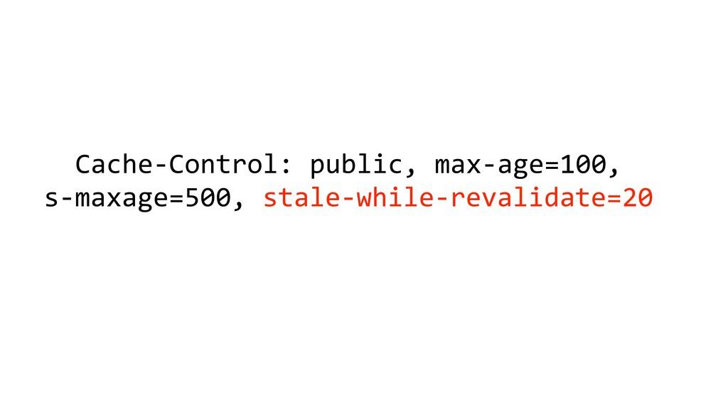 Cache-Control: public, max-age=100, s-maxage=50...
