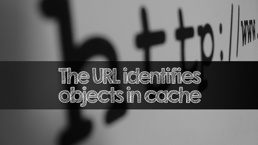 The URL identifies objects in cache