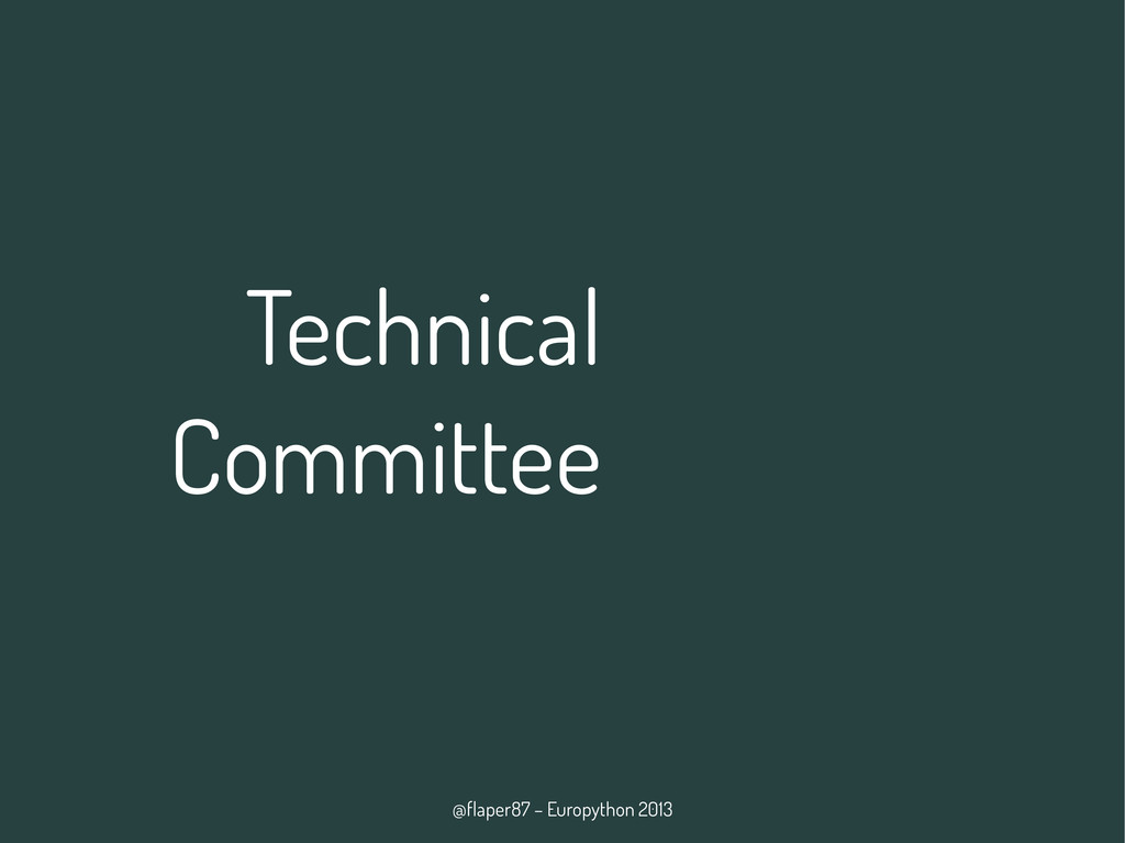 @flaper87 – Europython 2013 Technical Committee