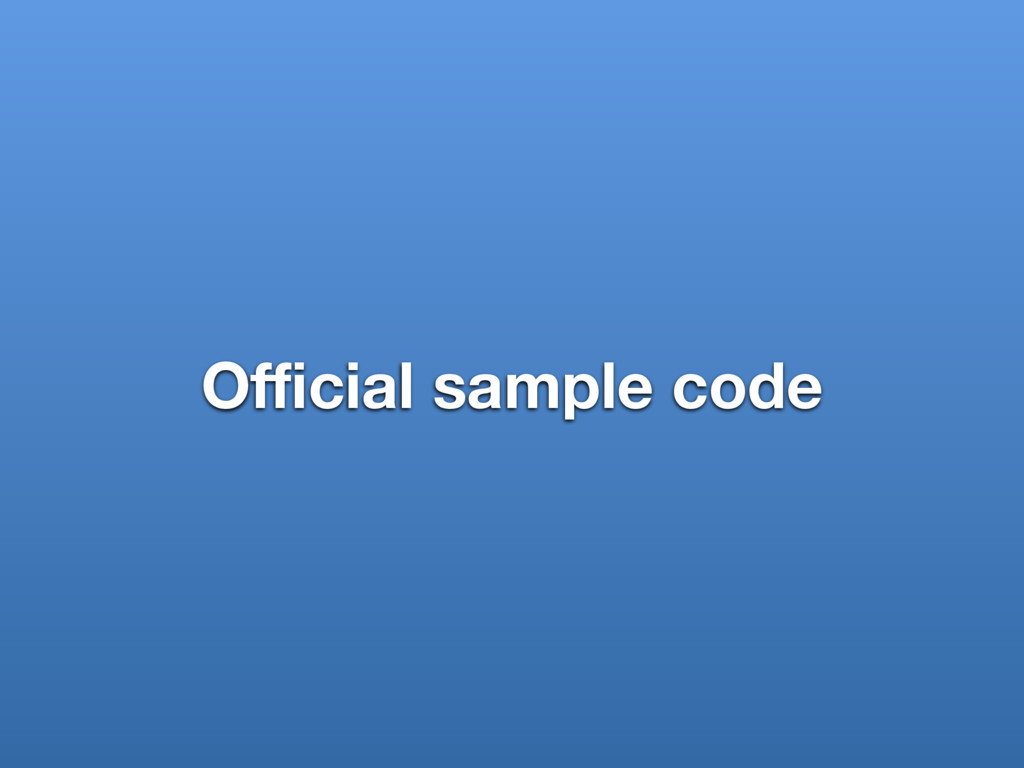Official sample code