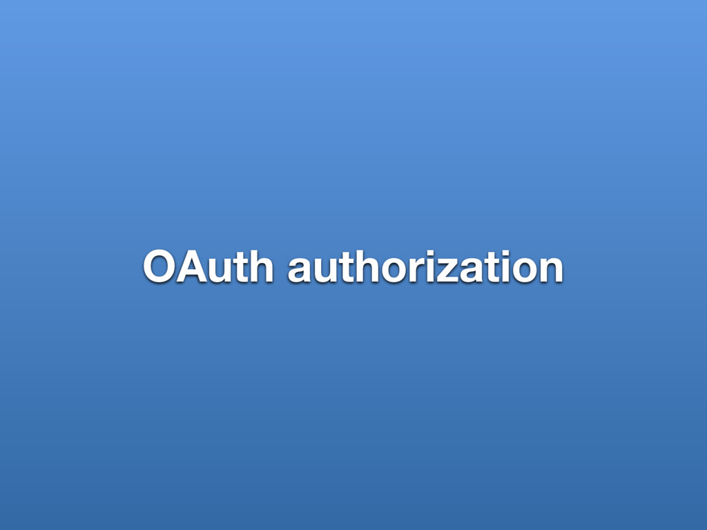 OAuth authorization