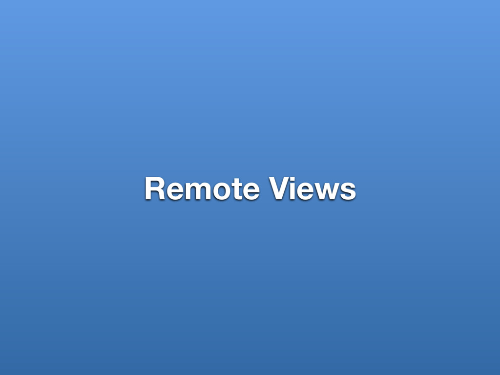 Remote Views