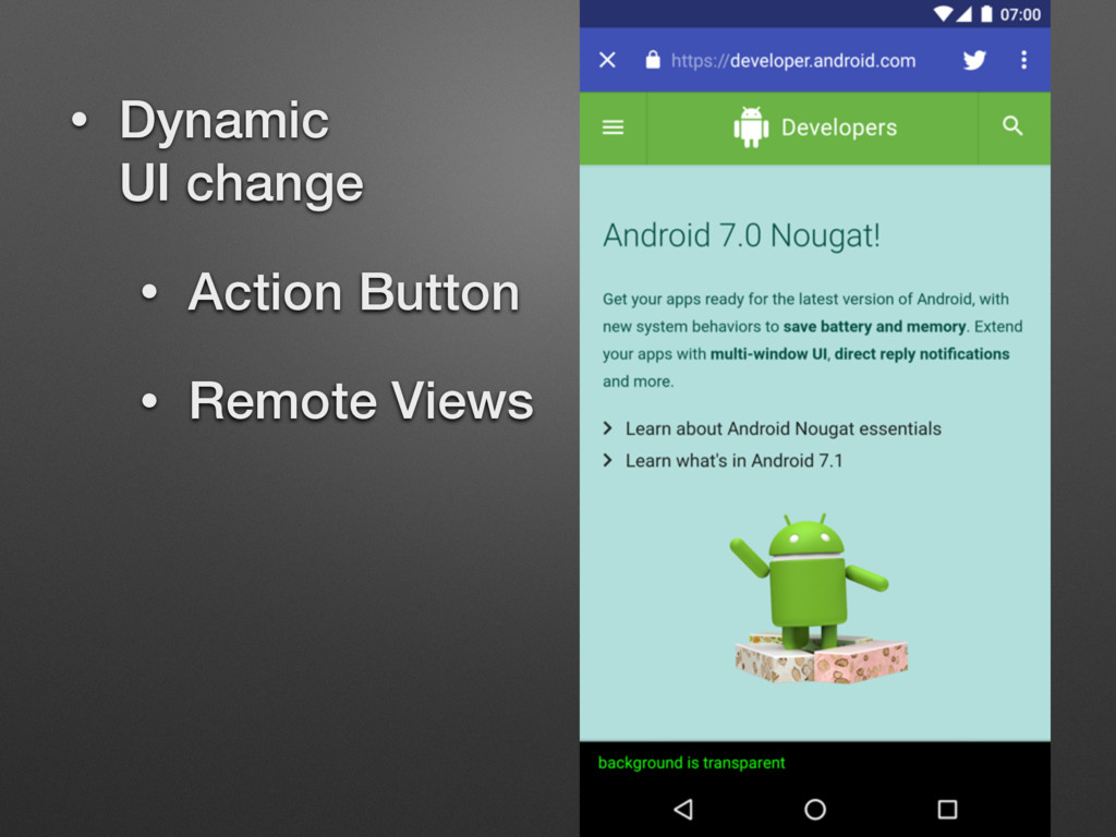 • Dynamic 