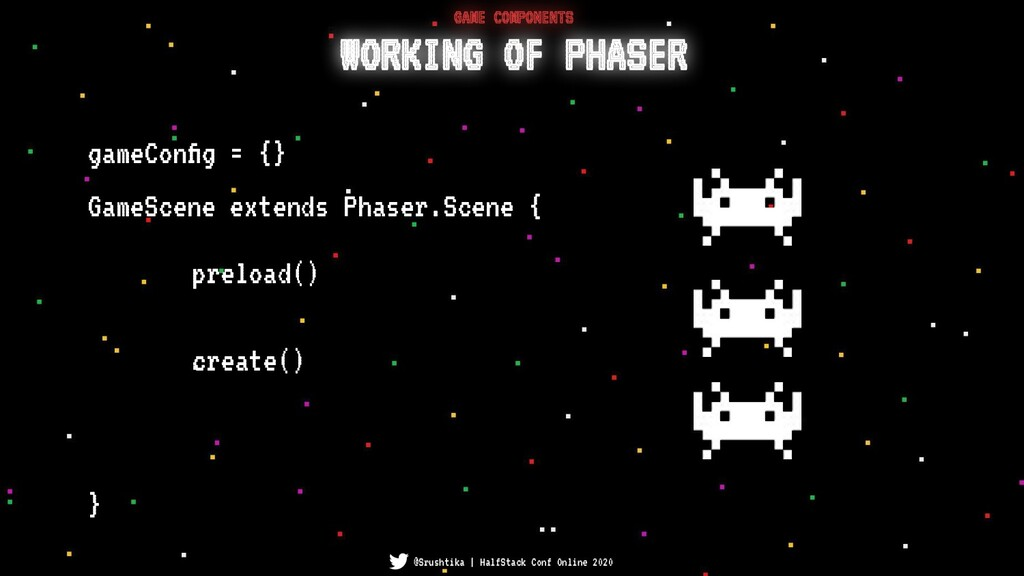 GameScene extends Phaser.Scene { } WORKING OF P...