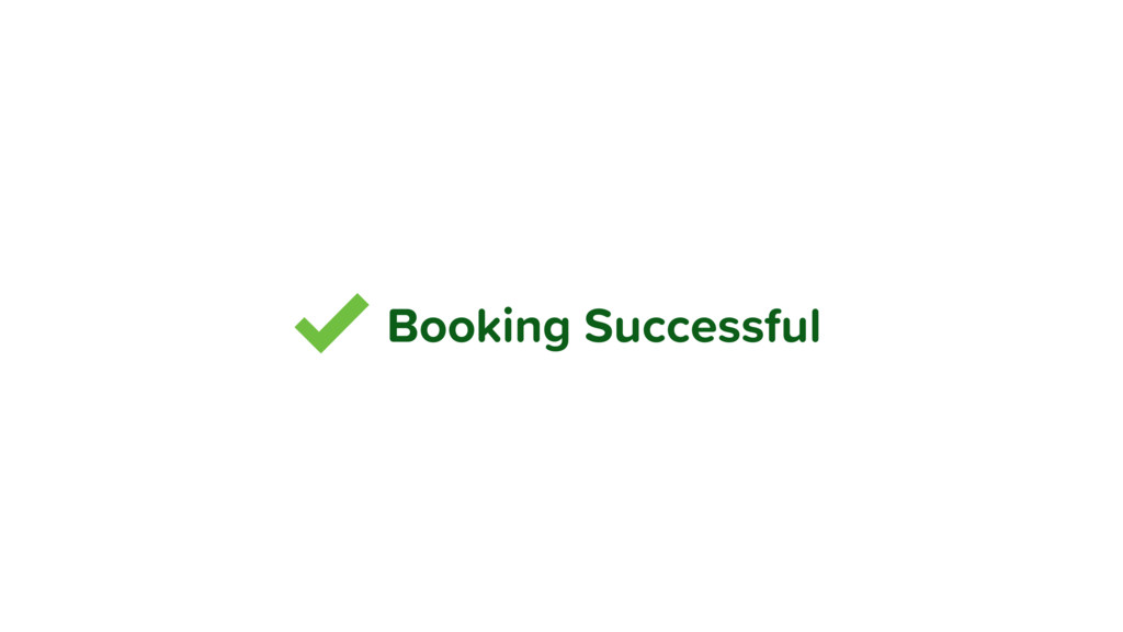 Booking Successful