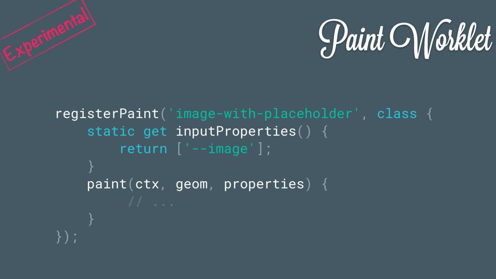 Paint Worklet registerPaint('image-with-placeho...