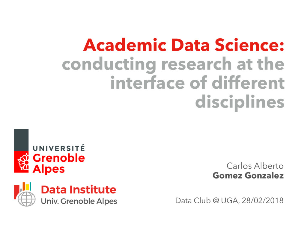 Academic Data Science: conducting research at t...