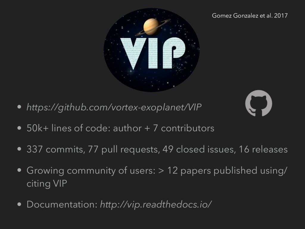 • https://github.com/vortex-exoplanet/VIP • 50k...