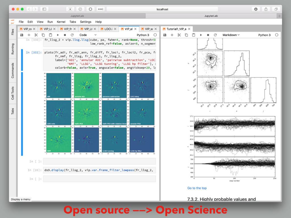Open source ——> Open Science