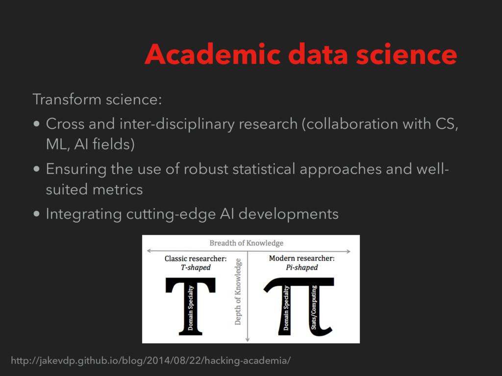 Transform science: • Cross and inter-disciplina...