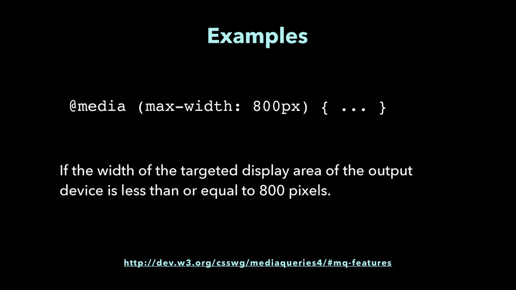 Examples If the width of the targeted display a...