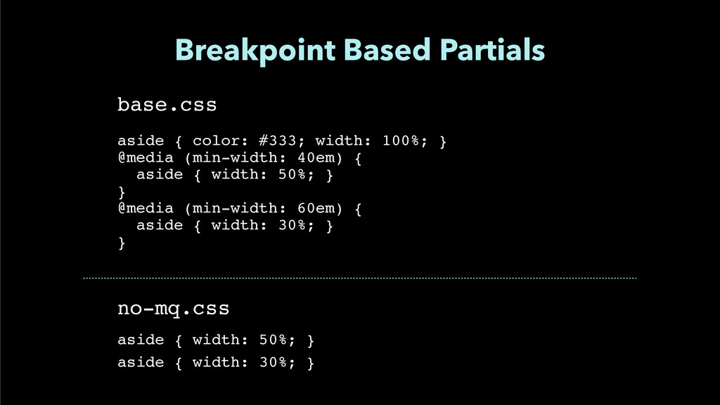 """Breakpoint Based Partials base.css"""" ! aside { c..."""