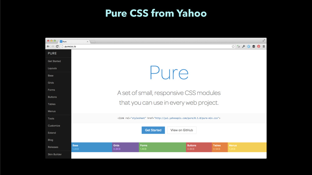 Pure CSS from Yahoo