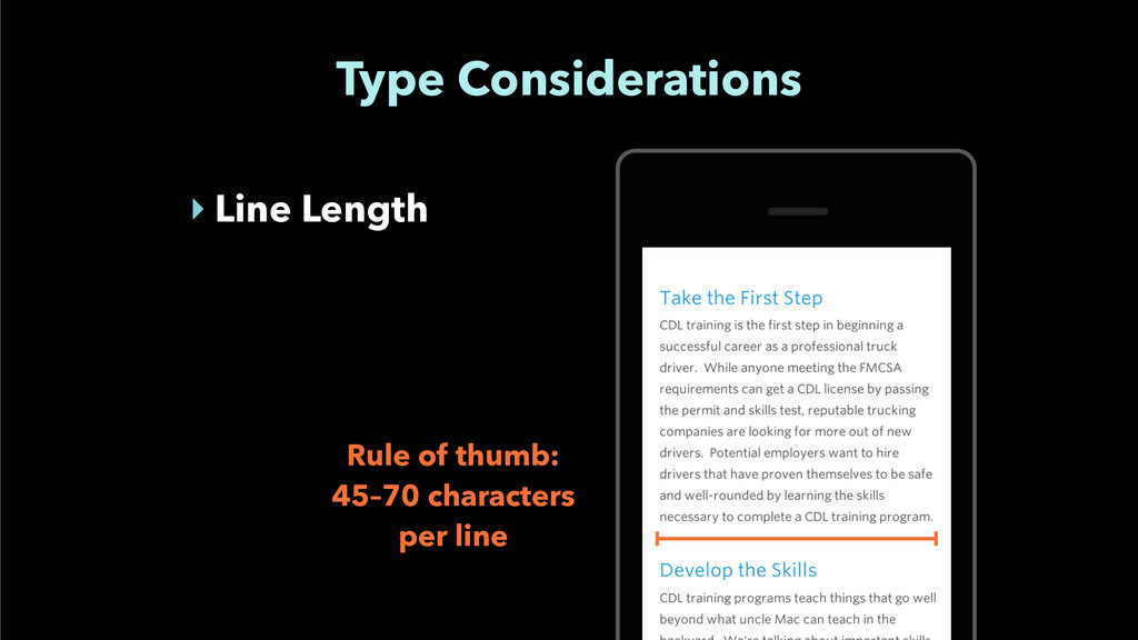 Type Considerations ‣ Line Length Rule of thumb...