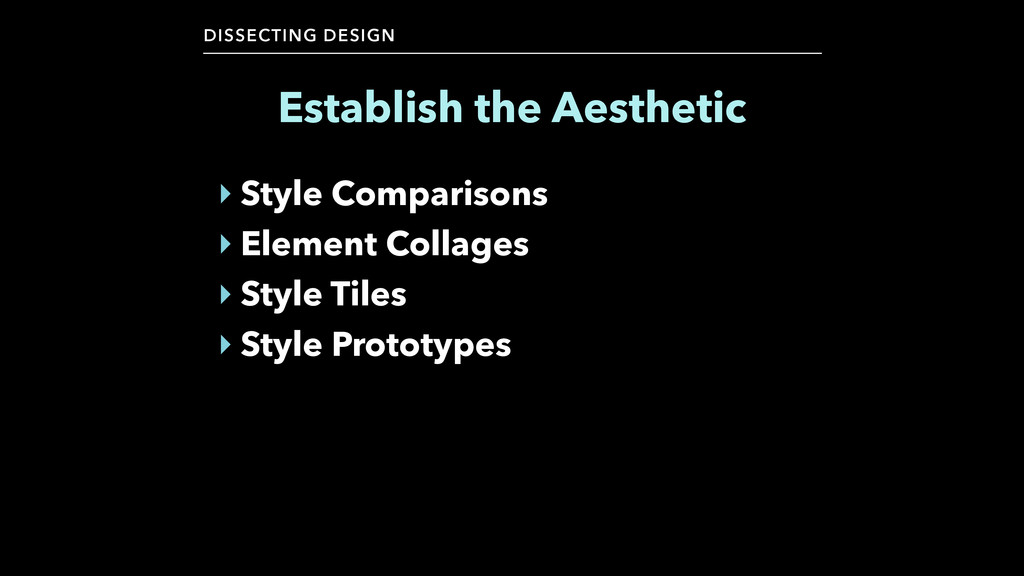 DISSECTING DESIGN ‣ Style Comparisons ‣ Element...