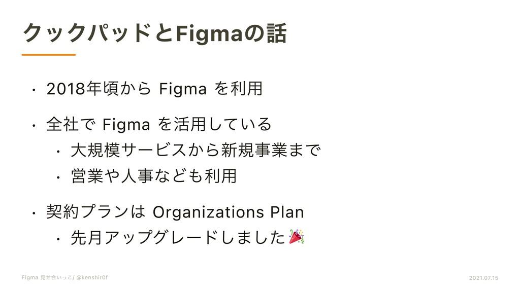 クックパッドとFigmaの話 q 2018年頃から Figma を利V q 全社で Figma...